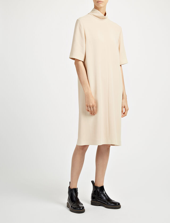 Viscose Cady Anya Dress, in DUST, large | on Joseph