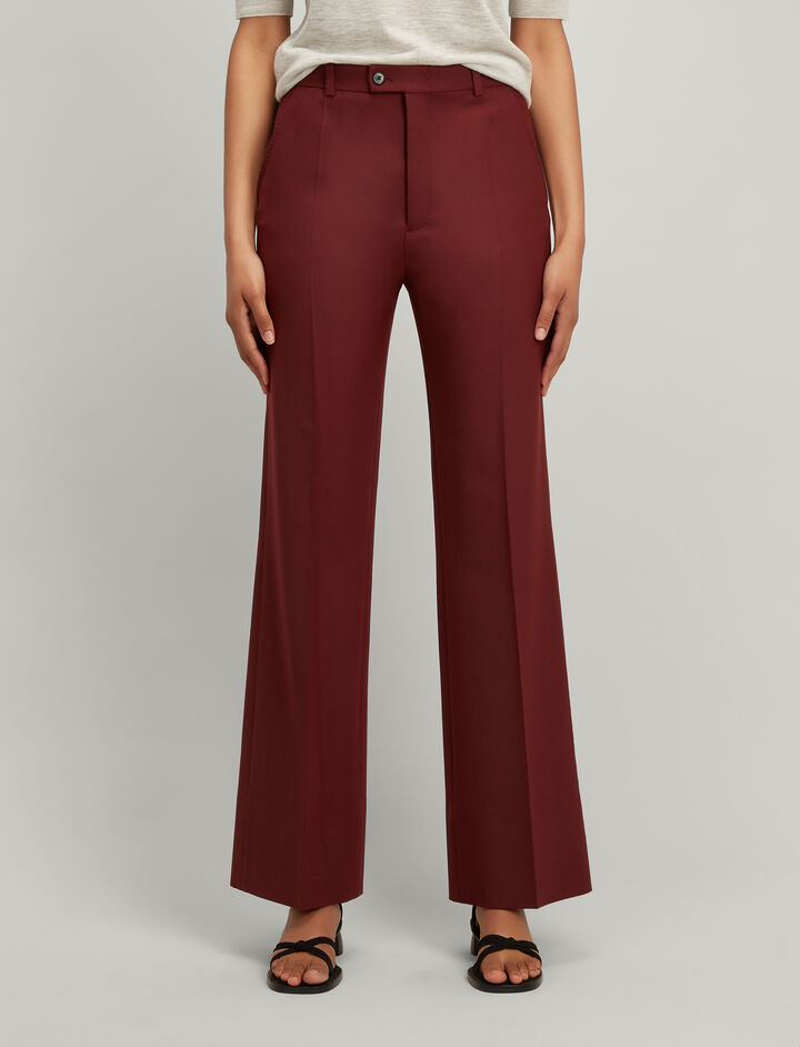 Comfort Wool Tropez Trousers, in MORGON, large | on Joseph