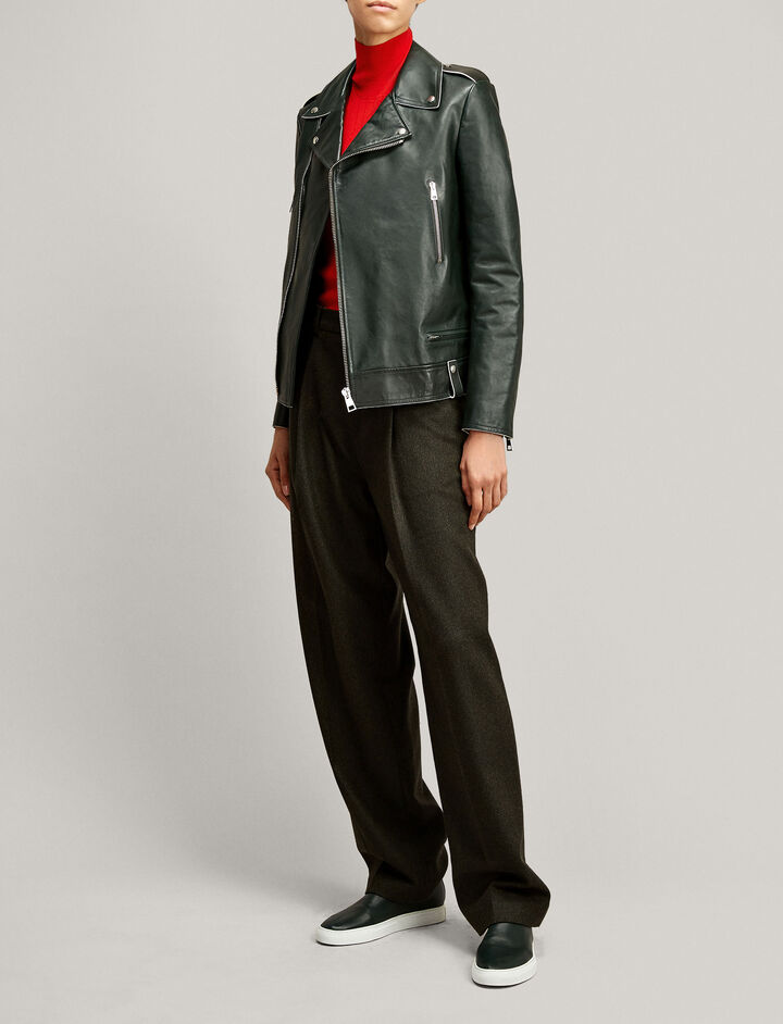 Joseph, Ryder Biker Leather Jacket, in BERMUDA