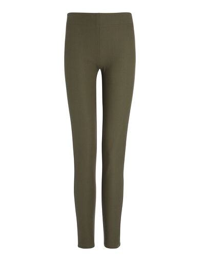 Gabardine Stretch Leggings, in ARMY, large | on Joseph