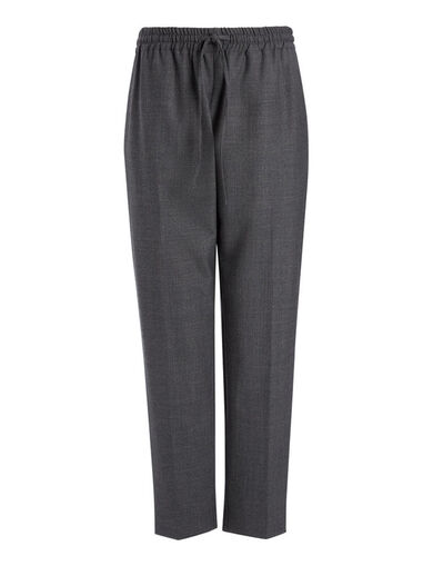 Pantalon Loulou en laine confort, in GRAPHITE, large | on Joseph