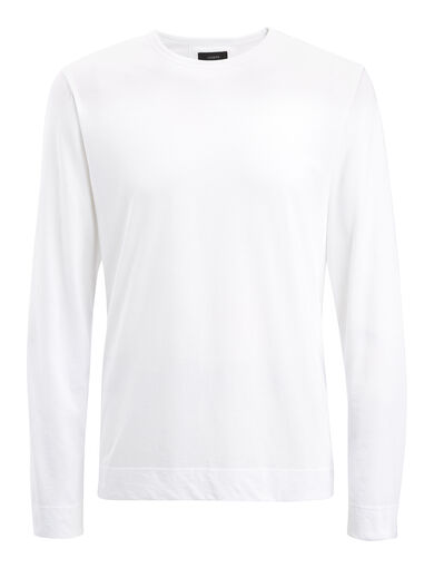Mercerized Jersey Top, in WHITE, large | on Joseph