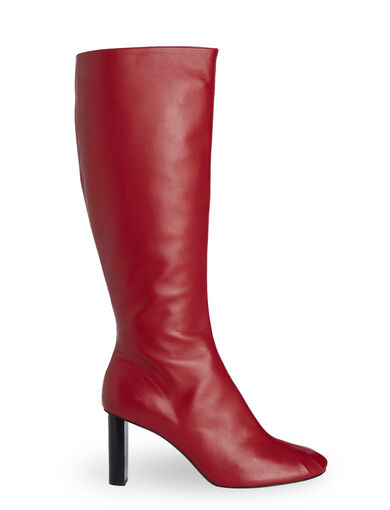 Nappa Leather Moulin Boot, in RED, large | on Joseph