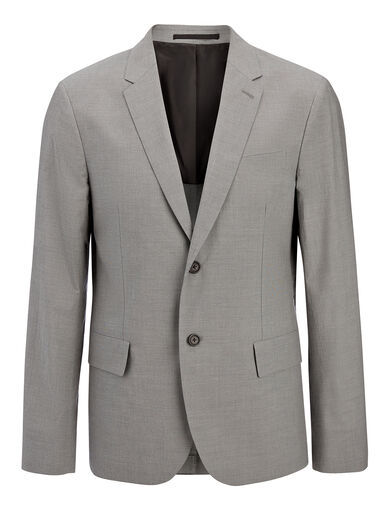 Veste Wembley en coton suiting, in GREY, large | on Joseph