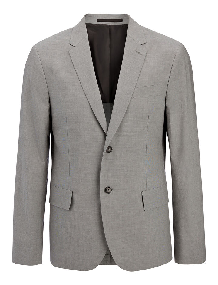 Cotton Suiting Wembley Jacket, in GREY, large | on Joseph