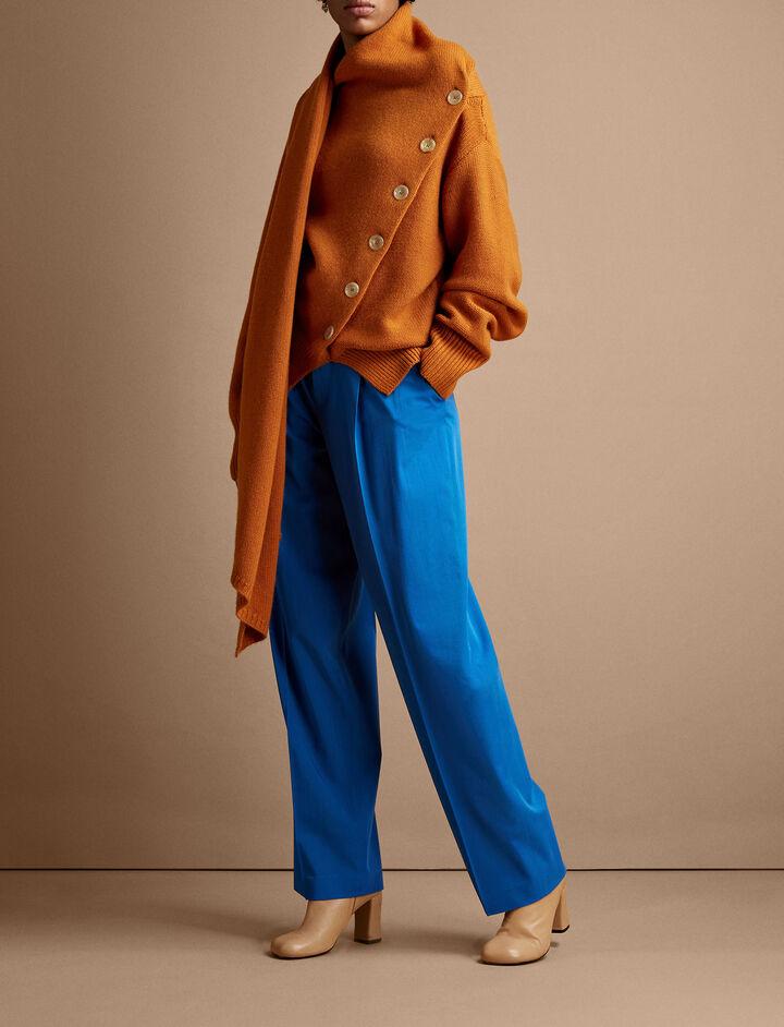 Joseph, Riska Wool Gabardine Trousers, in PLASTIC BLUE