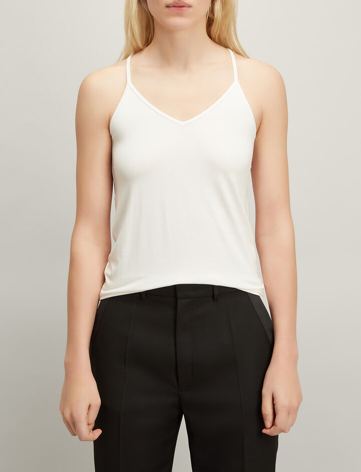 Joseph, Stretch Jersey Camisole, in ECRU