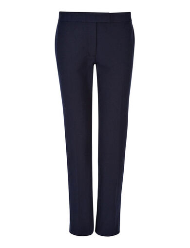 Pantalon Finley en gabardine stretch, in NAVY, large | on Joseph