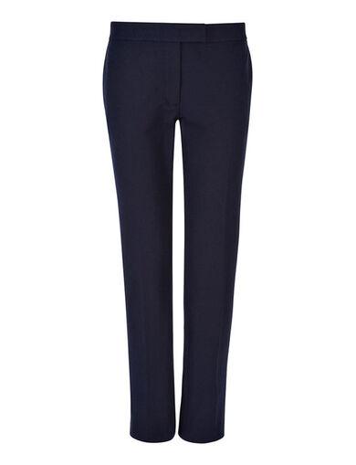 Gabardine Stretch Finley Trouser, in NAVY, large | on Joseph