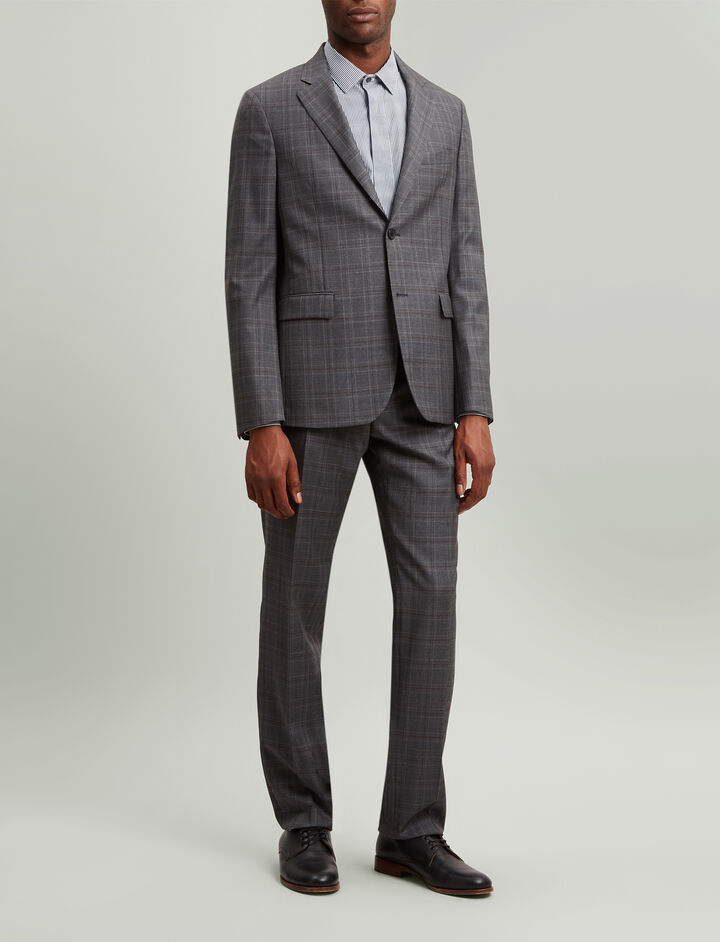 Joseph, Davide Subtle Check Suiting Jacket, in CHARCOAL