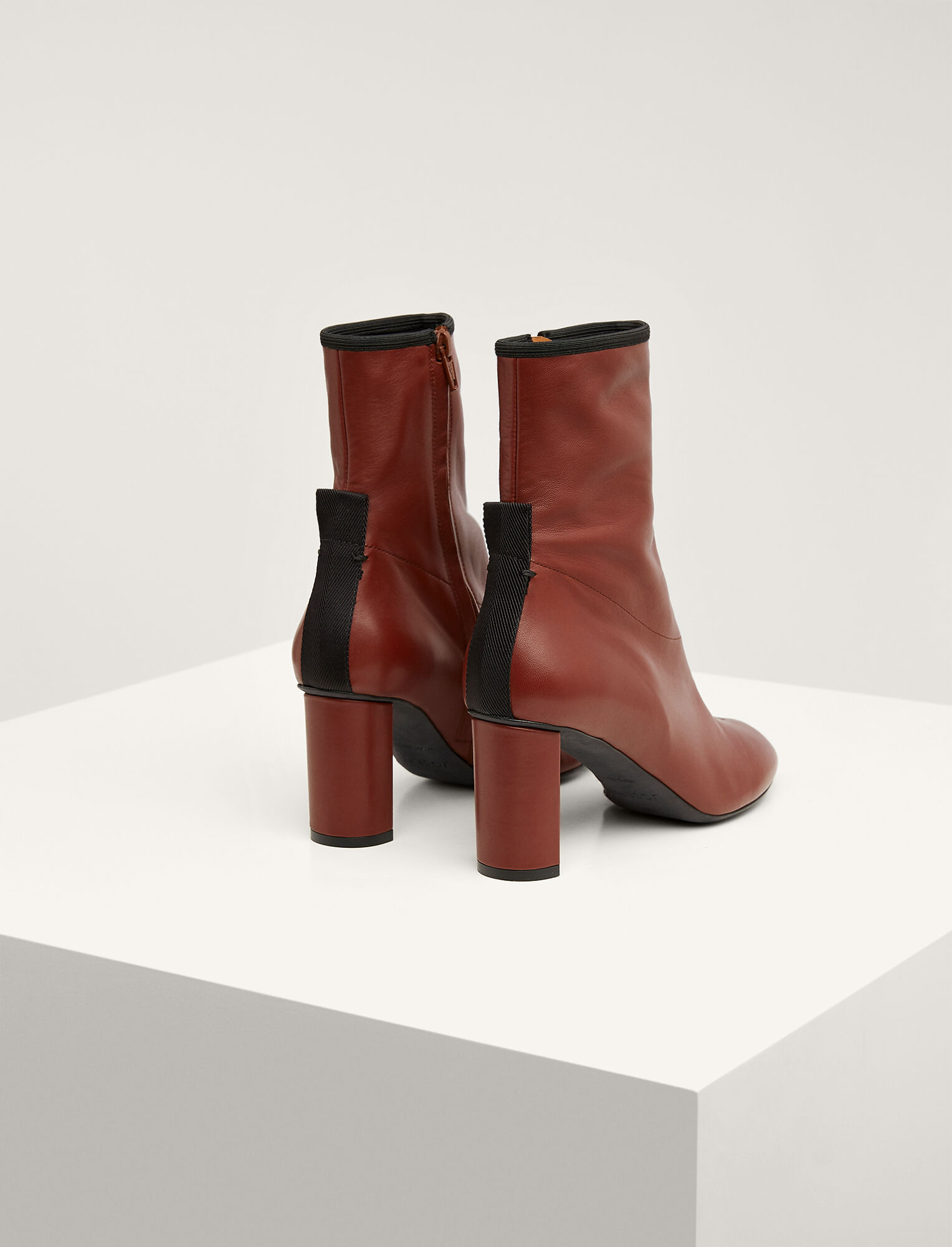 Joseph, Frida Block Heel Ankle Boot, in BROWN