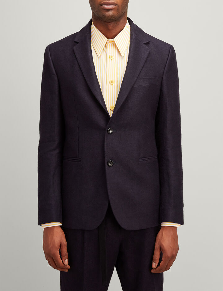 Brushed Twill Hawthorne Jacket, in NAVY, large | on Joseph