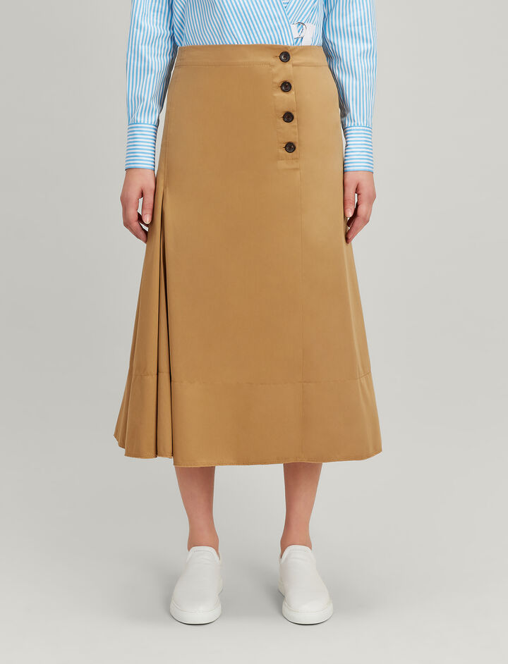 Twill Chio Smith Skirt, in CAMEL, large | on Joseph