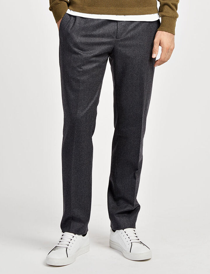 Flannel Suiting Jack Suiting Trousers, in PEAT, large | on Joseph