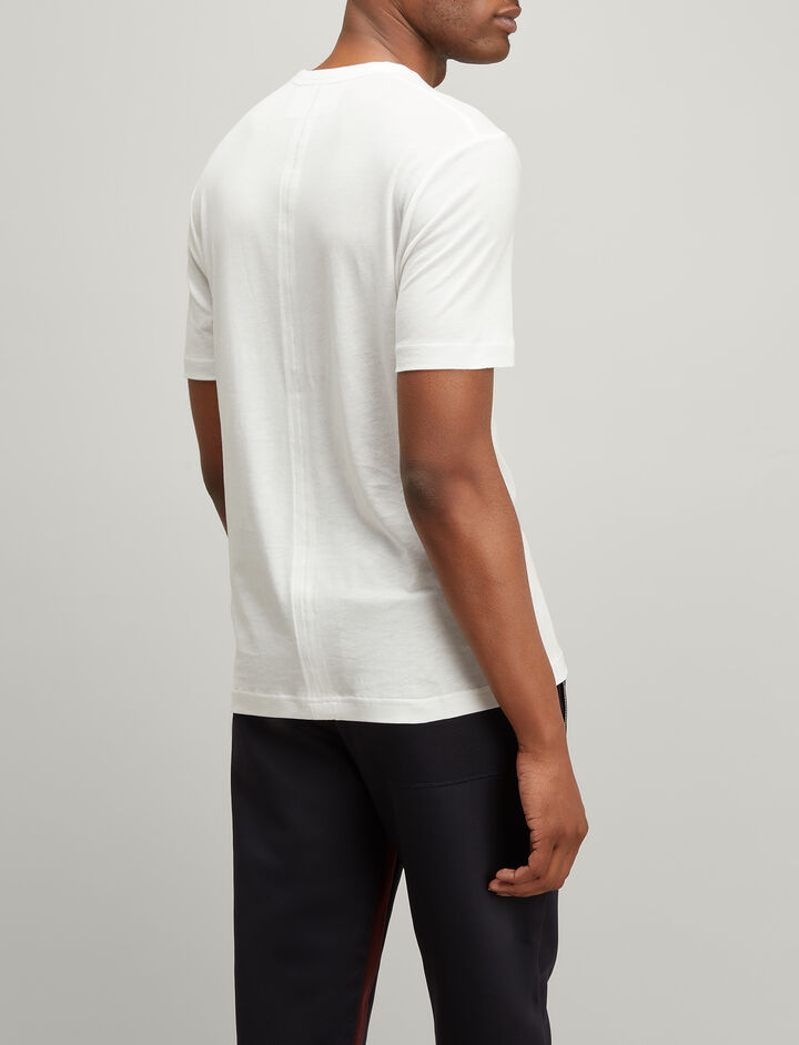 Lyocell Jersey V Neck Tee, in WHITE, large | on Joseph