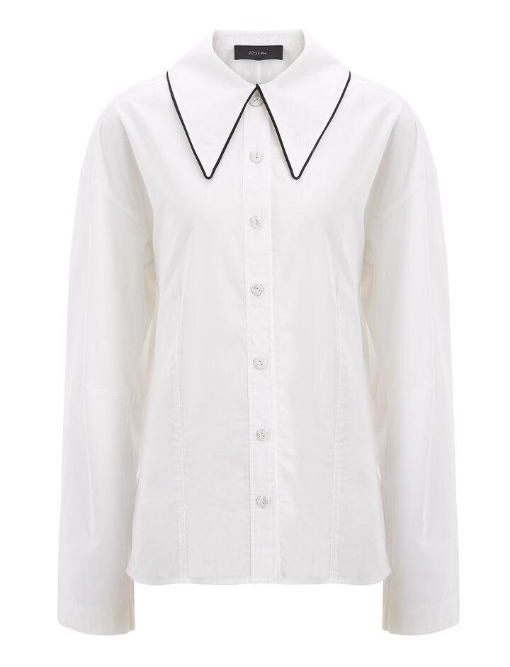Joseph, Chintz Cotton Reuben Shirt, in WHITE