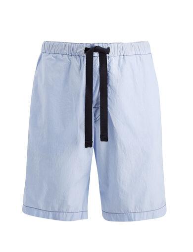 Workwear Stripes Abington Shorts, in SKY BLUE, large | on Joseph