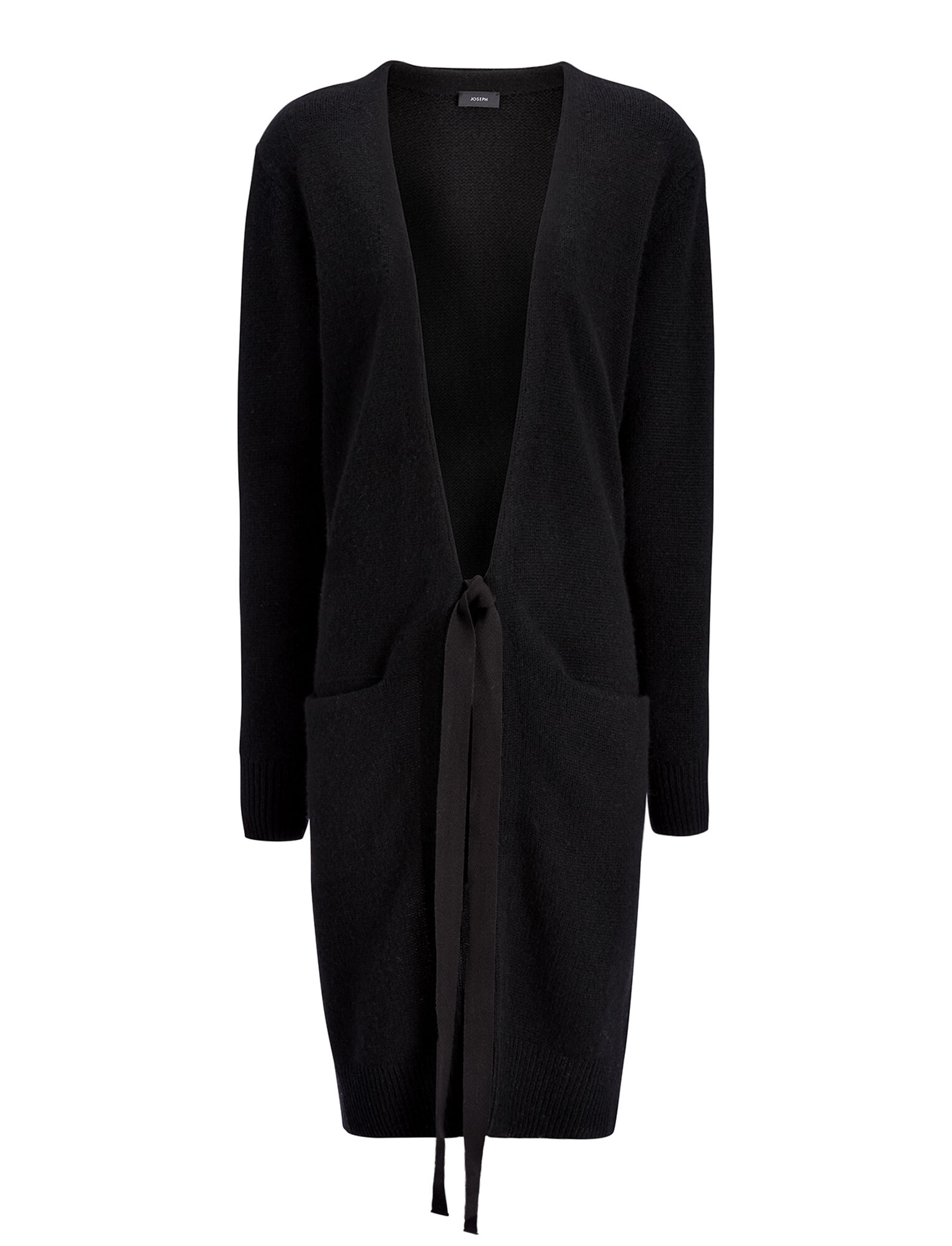 Joseph, Open Cashmere Long Cardigan, in BLACK