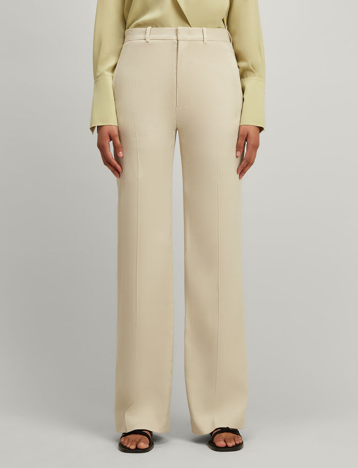 Joseph, Linen stretch Ferguson Trousers, in HESSIAN