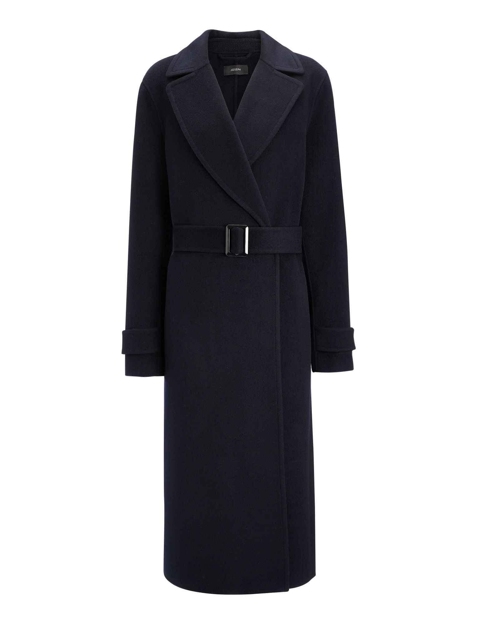 Double Face Cashmere Dale Coat, in NAVY, large | on Joseph