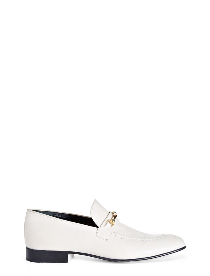 Mocassins Cuir de Veau, in WHITE, large | on Joseph
