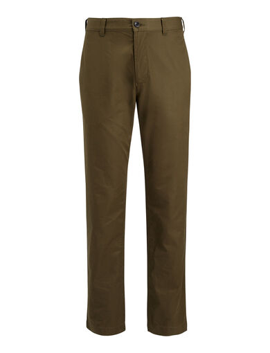 Compact Chino Glen Trousers, in Military, large | on Joseph