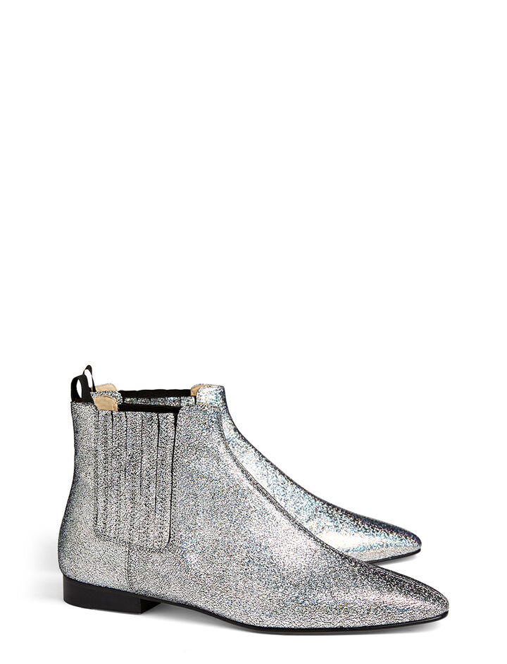 Bottines Pixie en cuir nappa, in SILVER, large | on Joseph