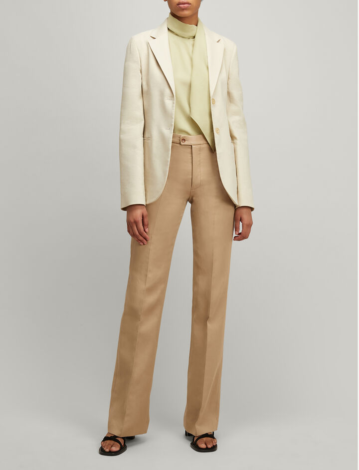 Joseph, Linen Stretch Archi Blazer, in HESSIAN