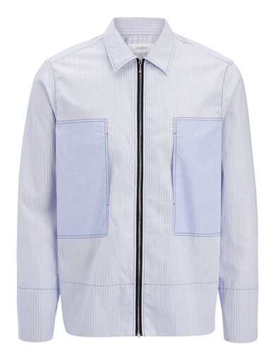 Workwear Stripes Falkland Shirt, in BLUE, large | on Joseph