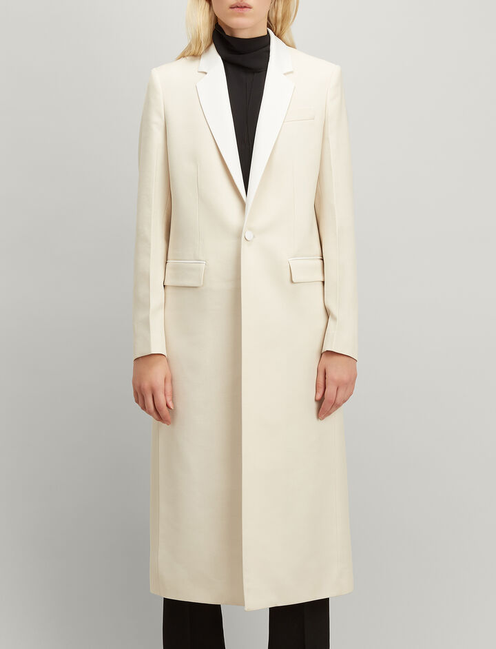 Grain de Poudre Jan Coat, in ECRU, large | on Joseph