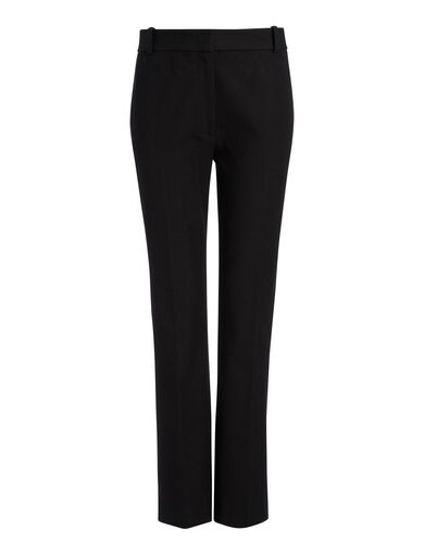 Gabardine Stretch Zoom Trousers, in BLACK, large | on Joseph