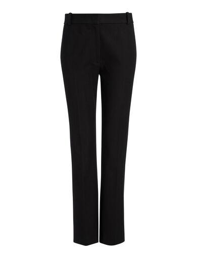 Gabardine Stretch Zoom Trousers, in BLACK, large | on Joseph