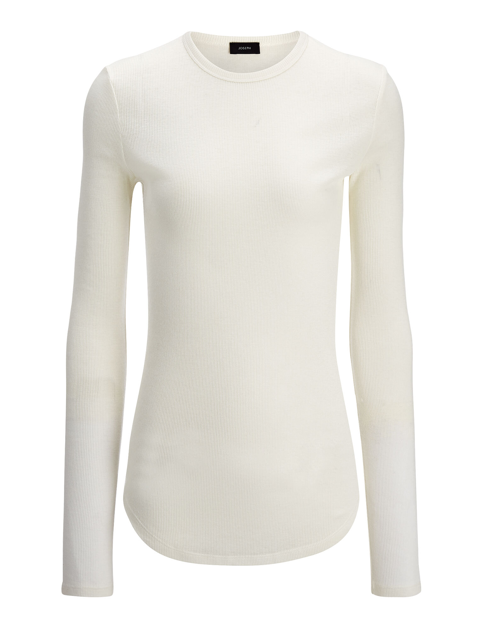 Joseph, Cotton Cashmere Rib Top, in ECRU