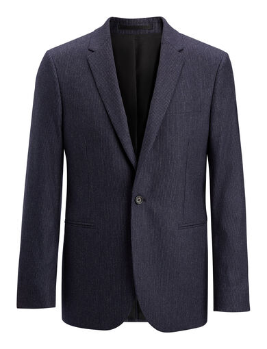 Small Stripe Halton Suiting Jacket, in MARINE, large | on Joseph