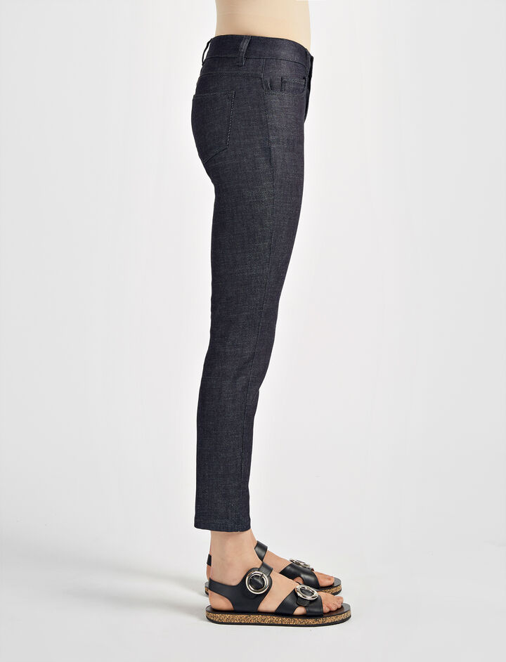 Pantalon Jeannot en denim brut, in INDIGO, large | on Joseph