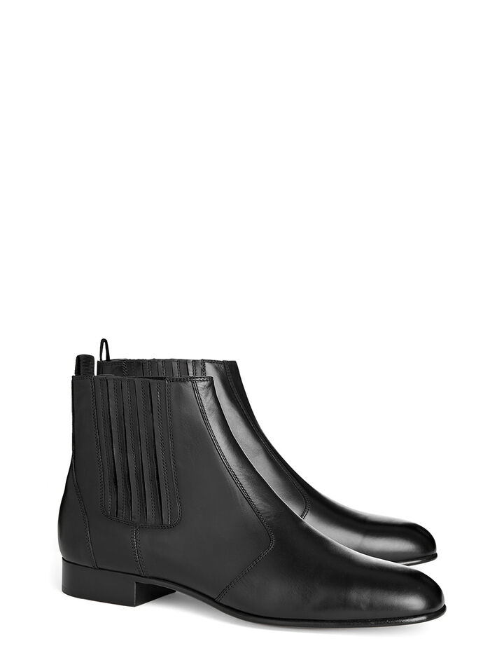 Bottines Pixie Cuir de Veau, in BLACK, large | on Joseph
