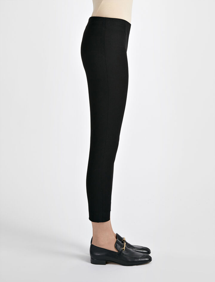 Pantalon court New Tony en gabardine stretch, in BLACK, large | on Joseph
