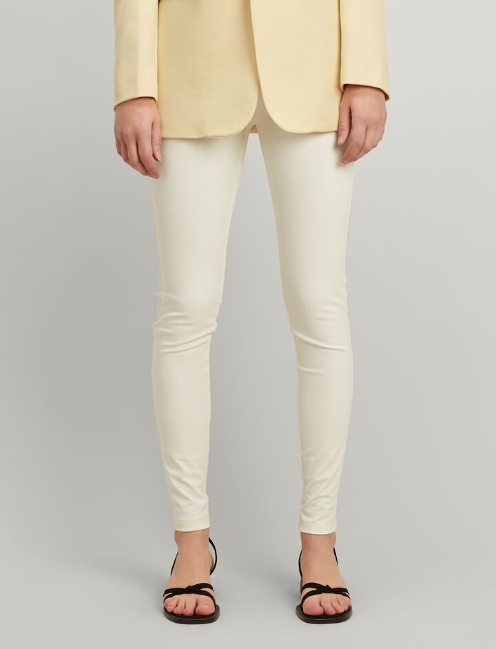 Joseph, Legging en Gabardine Stretch, in ECRU