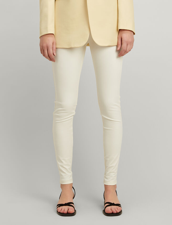 Joseph, Gabardine Stretch Leggings, in ECRU