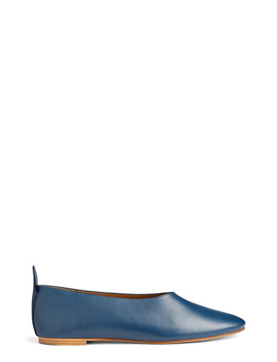 Ballerines Cuir de Veau, in BLUE, large | on Joseph