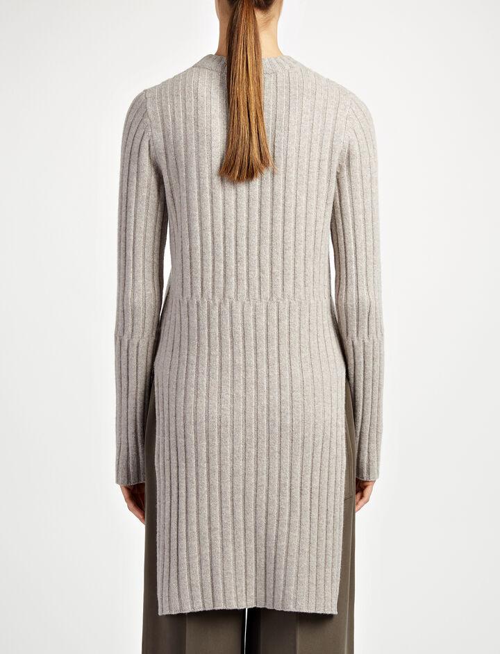 Soft Wool Rib Tunic, in BEIGE CHINE, large | on Joseph