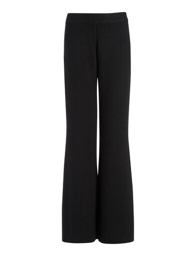 Cashmere Luxe Trousers, in BLACK, large | on Joseph