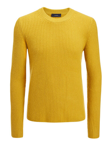 Military Cashmere Sweater, in OCHRE, large | on Joseph