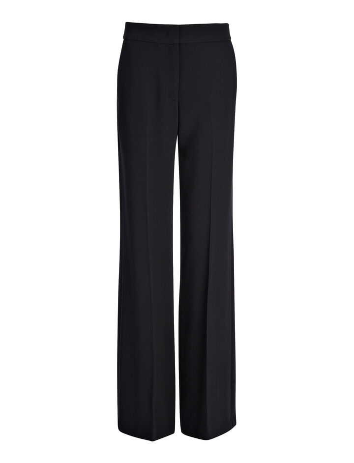 Joseph, Viscose Cady New Jagger Trouser, in BLACK