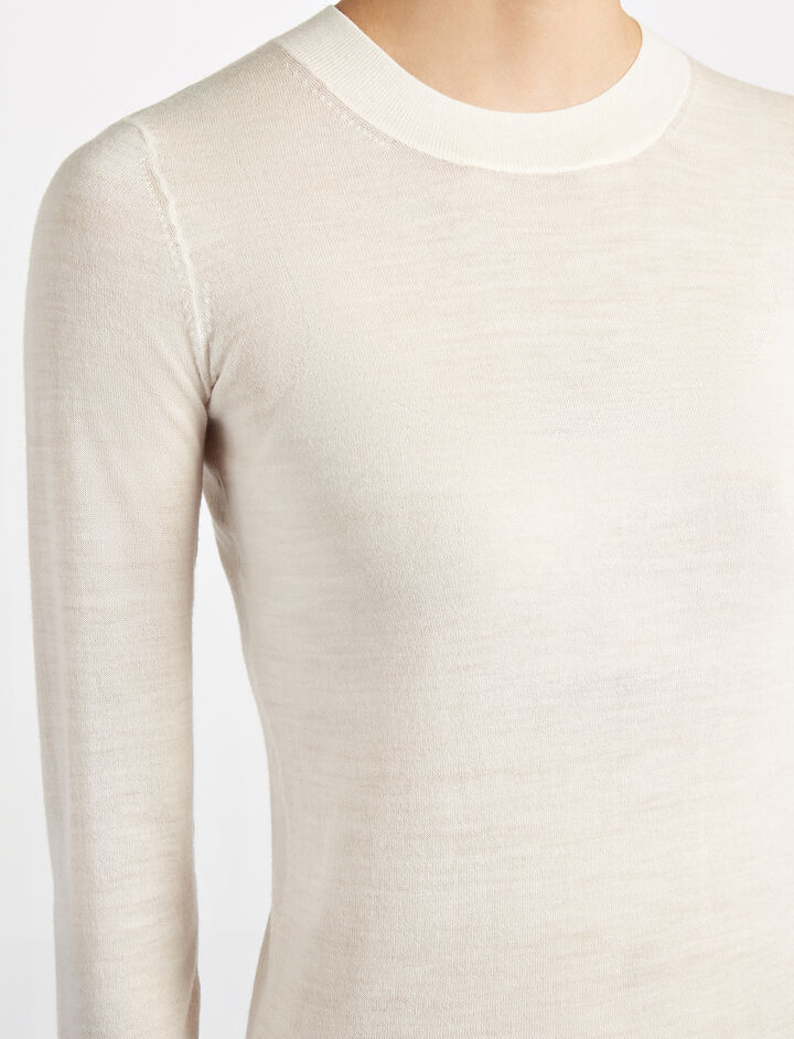 Transparent Knit Top, in ECRU, large | on Joseph