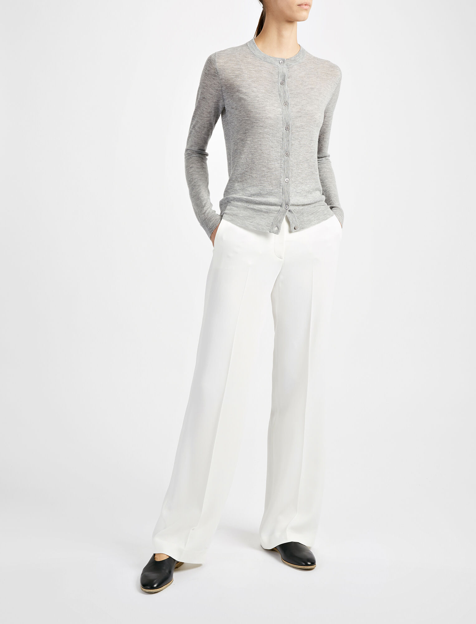 Joseph, Viscose Cady New Jagger Trouser, in BONE