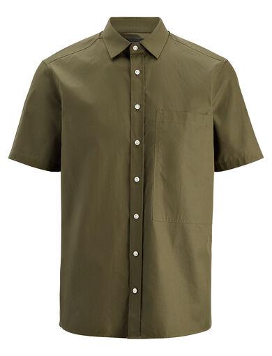 Poplin Deal Shirt, in KHAKI, large | on Joseph