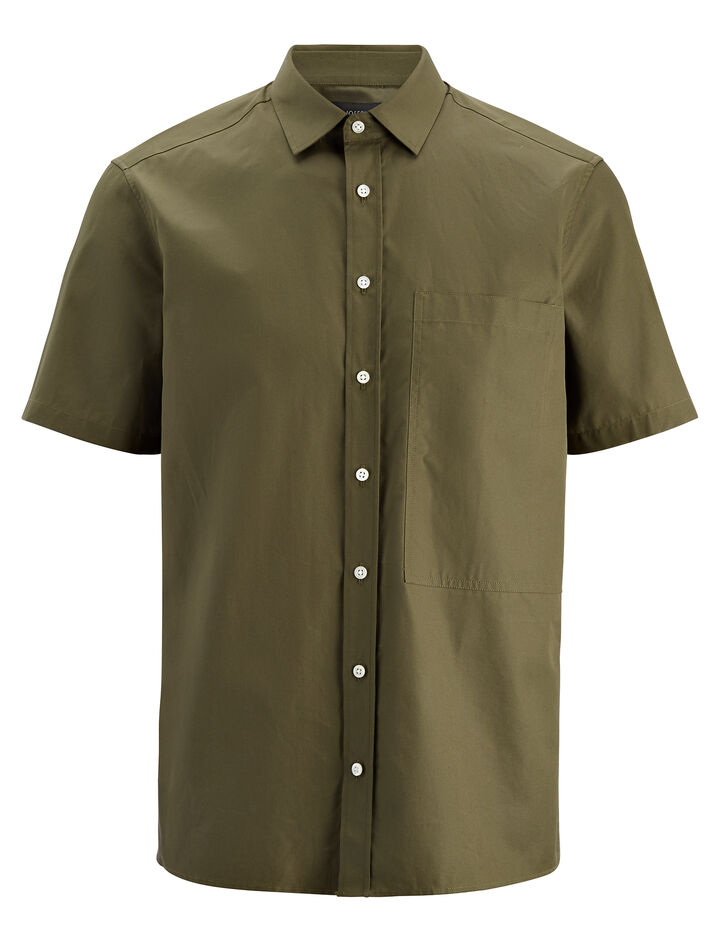 Poplin Deal Shirt, in KHAKI, large | on Joseph