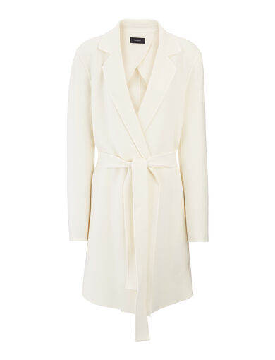 Double Face Suiting Kido Short Coat, in OFF WHITE, large | on Joseph