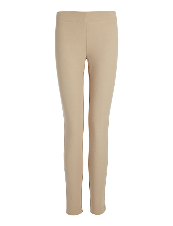 Gabardine Stretch Legging, in BEIGE, large | on Joseph
